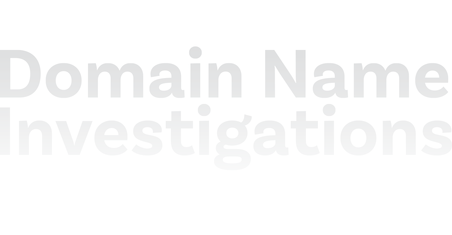 Domain Name Investigations